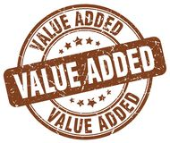 Value added stamp Stock Photo