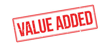 Value added rubber stamp Royalty Free Stock Photo