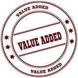 VALUE ADDED simple red stamp. Illustration graphic concept Royalty Free Stock Photography