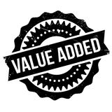 Value added stamp. Grunge design with dust scratches. Effects can be easily removed for a clean, crisp look. Color is easily changed Royalty Free Stock Images