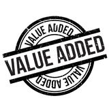 Value added stamp. Grunge design with dust scratches. Effects can be easily removed for a clean, crisp look. Color is easily changed Royalty Free Stock Photos