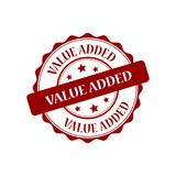 Value added stamp illustration. Value added red stamp seal illustration design Stock Photo