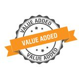 Value added stamp illustration. Value added stamp seal illustration design Stock Image