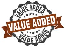 Value added stamp. seal. Value added stamp. sign. seal Stock Photography