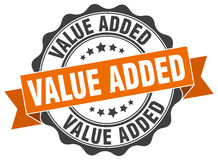 Value added stamp. Sign. seal Stock Image