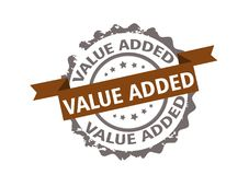 Value added stamp. Sign. Vector Stock Photo
