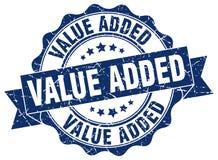 Value added stamp. Value added grunge stamp on white background Stock Photos