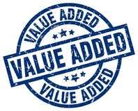 Value added stamp. Value added grunge stamp on white background Stock Photography