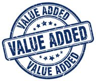 Value added stamp. Value added grunge stamp on white background Royalty Free Stock Image