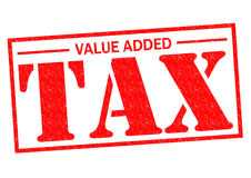 VALUE ADDED TAX. Red Rubber Stamp over a white background Royalty Free Stock Photography