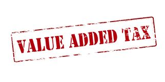 Value added tax. Rubber stamp with text value added tax inside,  illustration Royalty Free Stock Photography