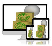 Value Boxes Display Product Quality And Worth Royalty Free Stock Photos