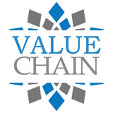 Value Chain Blue Grey Squares Background Royalty Free Stock Image