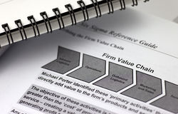 Value chain illustration on a paper Royalty Free Stock Image