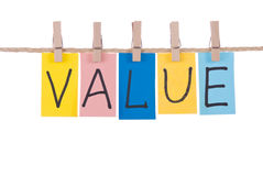 Value, Colorful words royalty free stock photo
