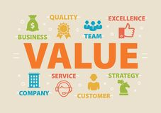 VALUE Concept with icons Royalty Free Stock Image