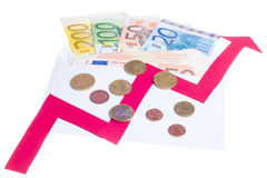 Value of euro increasing Royalty Free Stock Image