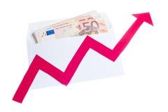 Value of euro increasing Stock Image