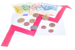 Value of euro increasing Royalty Free Stock Photos