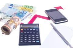 Value of euro increasing Royalty Free Stock Photos