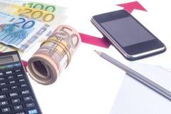 Value of euro increasing Stock Photo
