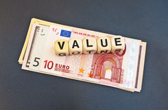 Value and Euro Stock Image