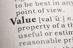Value Royalty Free Stock Photos