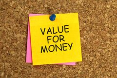 Free Value For Money Post It Royalty Free Stock Image - 177122856