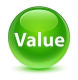 Value glassy green round button Stock Photos