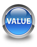 Value glossy blue round button Royalty Free Stock Photography