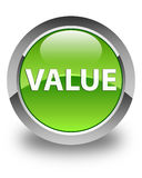 Value glossy green round button Royalty Free Stock Image
