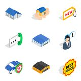 Value icons set, isometric style royalty free illustration