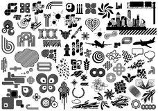 Value Pack: Design Elements. Collection of 100 black and white design elements. Visit my portfolio for much more illustrations and vectors Stock Illustration