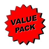 Value Pack Sign. Red Value Pack Sign - Web Button - Internet Design Royalty Free Stock Photos