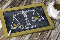Value price concept Royalty Free Stock Photos