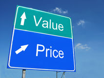 Value-Price road sign Royalty Free Stock Image