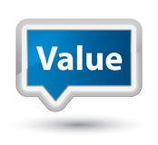Value prime blue banner button Stock Image