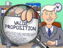 Value Proposition through Lens. Doodle Design. Stock Image