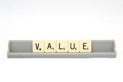 Value sign Royalty Free Stock Photo