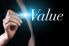 Value on the virtual screen Royalty Free Stock Photography