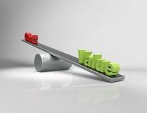 Value vs Cost stock illustration