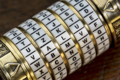 Value word as password to combination puzzle royalty free stock image