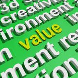 Value In Word Cloud Shows Worth Importance Or Significance. Value In Word Cloud Showing Worth Importance Or Significance Royalty Free Stock Photo