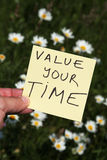 Value your time royalty free stock photos