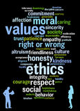 Values and ethics. Relevant topics regarding moral, values and ethics Royalty Free Stock Photo