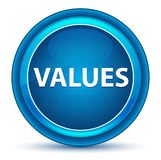 Values Eyeball Blue Round Button royalty free illustration