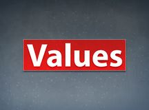 Values Red Banner Abstract Background. Values Isolated on Red Banner Abstract Background illustration Design stock illustration