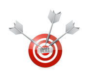 values target and dart illustration Royalty Free Stock Photography
