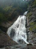 Valul Miresei瀑布,罗马尼亚 库存照片