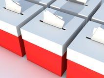 Valurna som ska röstas Royaltyfri Fotografi